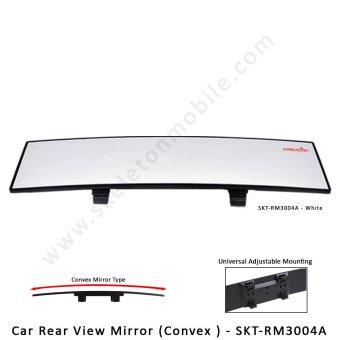 Skeleton Car Rear View Mirror Convex - SKT-RM3004A White