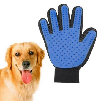 Moonar Pet Persediaan Silikon Sentuhan Lembut Dan Benar-Benar Efisien Mandi Dandan Anjing Sarung Tangan