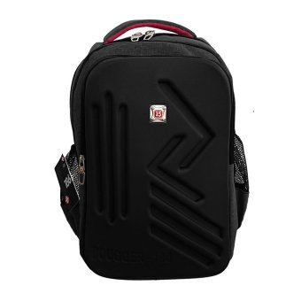 Harga Bag & Stuff Bougger Emboss Laptop Backpack + Raincover - Hitam