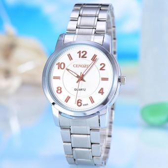Harga Jam Tangan Pria Cenozo-Body Silver Black/Rose Dial - CNZ-6985C-G-PP/SW-STAINLESS STELL BAND