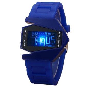 Jam Tangan Pria Digital LED Light Strap Karet Sports Men Wrist Watch