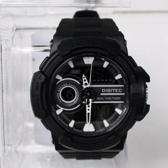 Jam Tangan Pria Digitec Dual Time Wrist Watch Sport DG-3042T Aquaman Original - Black