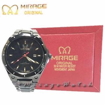 JAM TANGAN PRIA MIRAGE Black 7569M Ph