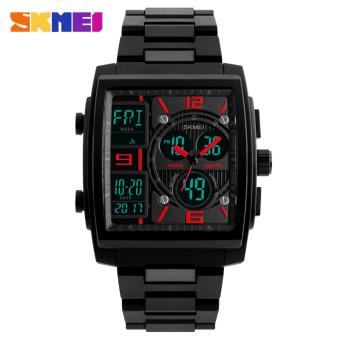 Jam Tangan Pria Skmei Fashion Trendsetter Dual Display Stainless With Box -  B Red d2b9c1135b