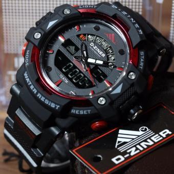 Jam Tangan Sport D-ZINER Dual Time Pria