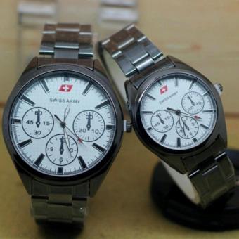 Jam tangan Swiss army pria&wanita Couple Rantai - SA 10394