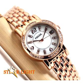 Jam Tangan Wanita - [ SWISS ARMY__FOSSIL__MIRAGE__TETONIS ] Stainless Steel Elegant & Fashionable _ Tanggal Aktif