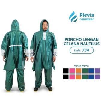 Jas Hujan Poncho Lengan Celana Plevia NAUTILUS 734 - Batman Ponco Hijau