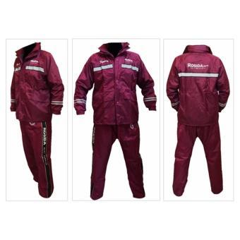 Jas hujan Rosida 882 Sporty Edition Merah Marun