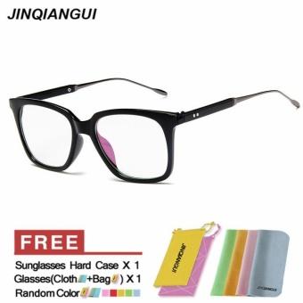 JINQIANGUI Kacamata Bingkai Men Square Plastik Eyewear Logam Warna Bingkai  Perancang Merek Bingkai Tontonan untuk Nearsighted b58940caac