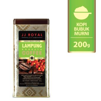 JJ Royal Coffee Lampung Robusta Ground (Kopi Bubuk) Tin 200gr
