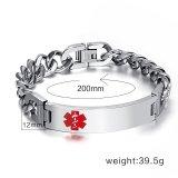 Gambar Produk Rinci Kemstone Silver Plated Titanium Steel Chain Bracelet for Men - intl Terkini