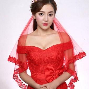 Pengantin wanita kerudung Model Korea RESTONIC kerudung panjang lembut model  pendek menikah Gaun pengantin kerudung model 21ceaa6a23