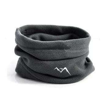 Kupluk Polar Fleece Multifungsi Neck Mask Thermal COKLAT