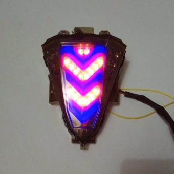 lampu stop led yamaha R15+sein led kren