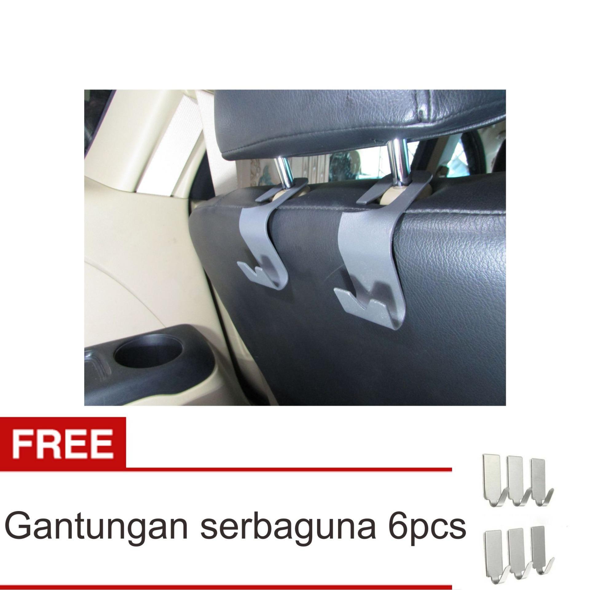 Hot Deals Lanjarjaya Mobil Kendaraan Back Seat Headrest Organizer Hanger Storage Hook untuk Belanjaan Bag Handbag