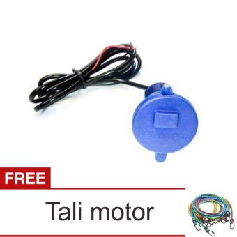 Lanjarjaya USB Charger Motor Waterproof Cas HP di motor - Biru + Tali Motor