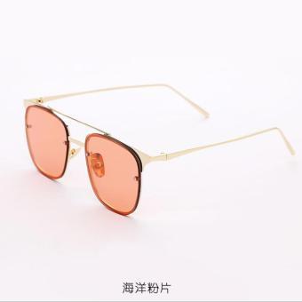 Laut Transparan Perempuan Pria Lembar Kacamata Hitam Kacamata Hitam