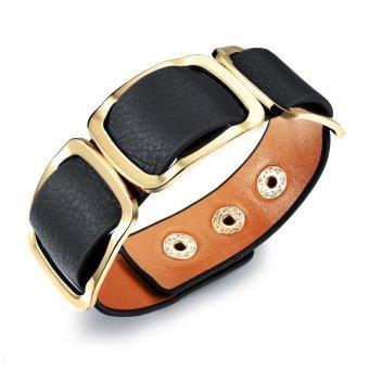 Gelang Kulit Gelang Wanita Vintage Perhiasan Sabuk Lebar Gelang Kulit Jewelry Adjustable Gelang Kulit untuk Wanita