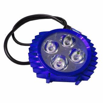 LED Lampu Sorot Tembak Luxeon 4 Mata Slim - Biru