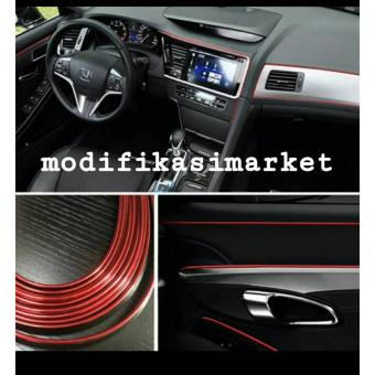 Lis Dekorasi Interior Mobil Moulding Trim - RED