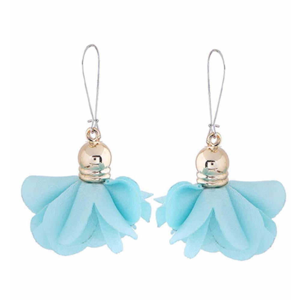 Shock Price LRC Anting Gantung Fashion Flower Shape Decorated Earrings penjualan - Hanya Rp13.249