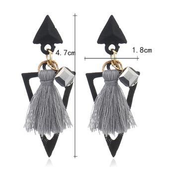 Fashion Black Tassel Pendant Decorated Pure Color Simple Earrings. Source · LRC .