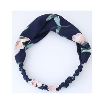 LRC Bando Fashion Flower Pattern Decorated Headband