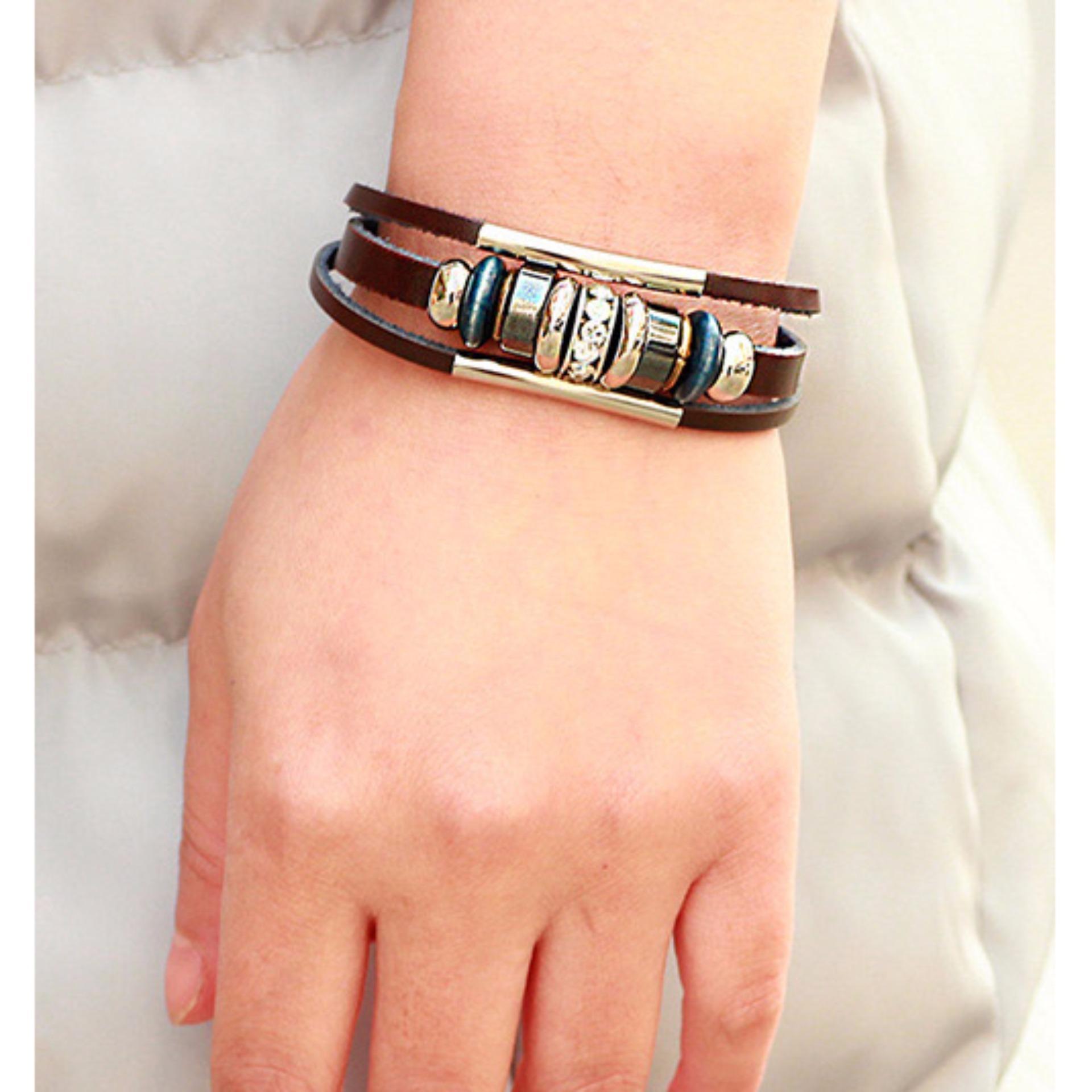 ... Black Sagittarius Pattern Decorated Source · Hot Deals LRC Gelang Tangan Pria Vintage Diamond Decorated Multi layer Bracelet terbaik murah