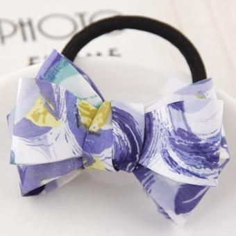 LRC Ikat Rambut Sweet Flower Pattern Bowknot Decorated Simple Hair Band
