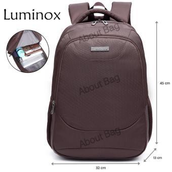 Luminox Tas Ransel Laptop Tahan Air 62059 Backpack Up to 15 inch - Coffee