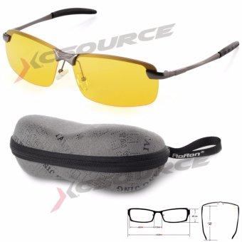 Malam Visi Mengemudi Kacamata Terpolarisasi Kacamata Hitam (Kuning Lensa + Abu-Abu Lis)