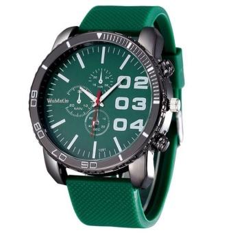 Mens Stylish Luxury Huge Big Dial Silicone Band Quartz Wrist Watch Sports Watch - intl