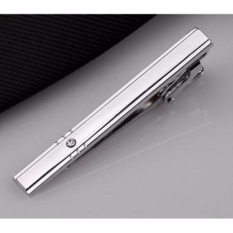 Mens Bar Dompet Klip Silver Fashion Penjepit Dasi Business Tie Pin Pernikahan Hadiah Pesta-Internasional