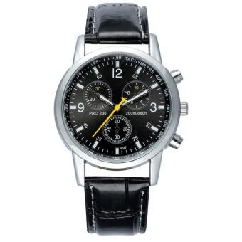 Hot Penjualan Fashion Mens Watches Fashion Bisnis QUARTZ Watches Tahan Air  Arloji Metal Alloy Leather Strap 7d221ef0bf