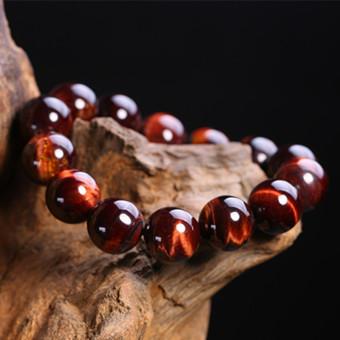 Merah Manik-manik Budha Eagle Mata Kayu Menjadi Batu Gelang Manik Batu Mata Harimau Gelang