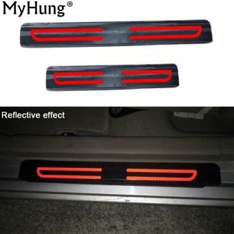 MHS Reflektif Sill Plate Entry Scuff Meliputi Car Door Sill Scuffsticker untuk Honda City BRIO Jazz