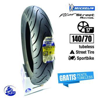 DR BAN Michelin pilot Street Radial 140/70 - 17 (GRATIS Cop Tubeless) ...