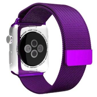 Milanese Magnetic Loop Stainless Steel Watch Band Tali untuk Apple Watch 38mm PP-Intl