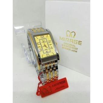 Mirage Japan Original Jam Tangan Wanita Stainless Steel Gold Silver