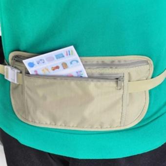 Moonar perjalanan tahan air Sport Kantung casing tersembunyi compact keamanan Zipper uang pinggang sabuk pemegang saku
