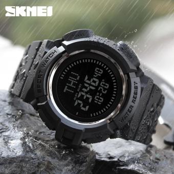 Baru SKMEI Outdoor Olahraga Compass Watches Hiking LED Men Digital Watch Chronograph Kalender Multifungsi Tahan Air