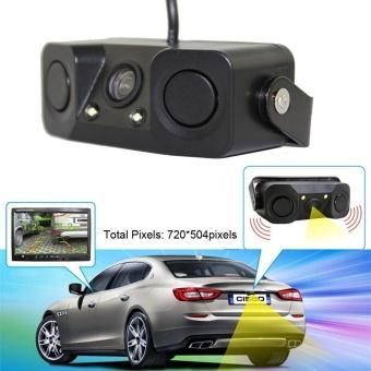 Night Vision Kamera Monitor 2LED Car Rear View Camera With Radar Sensor Parkir-Intl