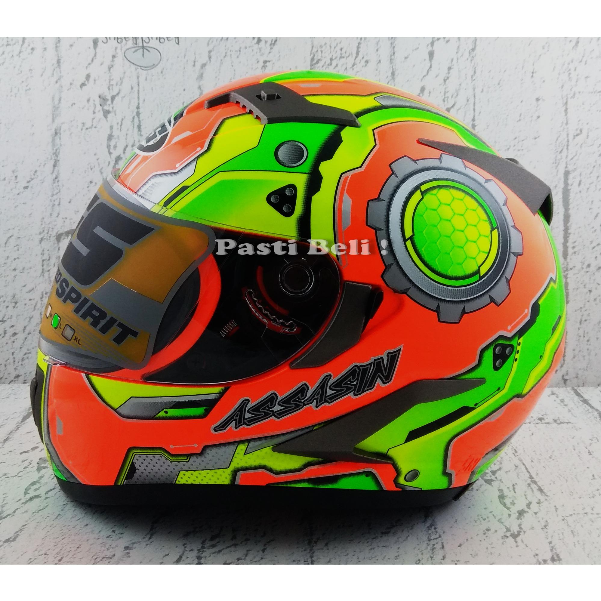 Mds Helm Full Face Motor Cross Super Pro Supermoto Double Visor Moto Motif Pagar 2 Yellow Fluo Motocross Semi Source Review