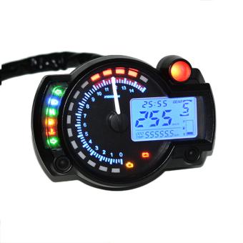 Allwin Digital LCD 15000 RPM Speedometer Untuk Sepeda Motor Sebagai Alat Pengukur Takometer dan Odometer