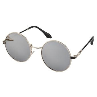 47d04e44ec OH Classic Goggles Kacamata Logam Kids Girls Boys Anti-UV Outdoor Sunglasses  Putih   Perak