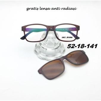 Oki Store Frame Kacamata TR Clip On Polarized New Normal   Baca   Plus    Minus   144762efc8
