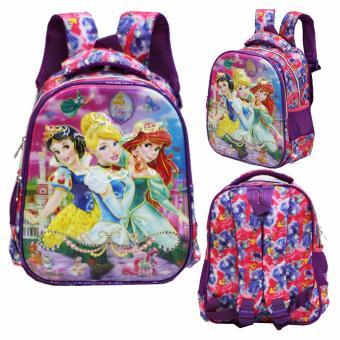 Onlan Tas Ransel Anak Sekolah TK 2 Kantung Import Karakter Anak Perempuan - Purple