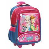 ... Onlan Tas Trolley Anak Sekolah SD Ukuran Besar Karakter Frozen Fever Bahan Saten - Blue -