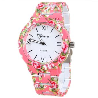 Ormano - Jam Tangan Wanita - Pink - Strap Mika - Aniela Flower Watch